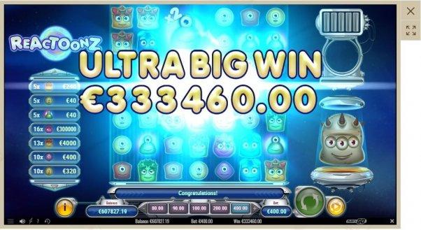 Казино Боб - большой выигрыш в 960 000 евро