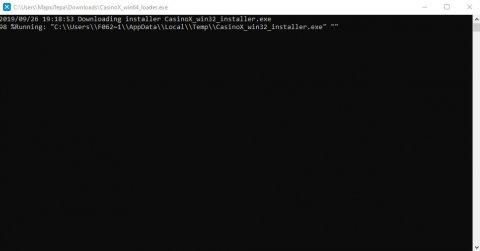 Скачать и установить Casino X на компьютер - Шаг 3: Запускаем загруженный файл