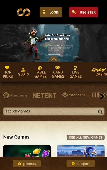 Мобильная версия казино Everum