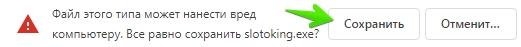 Программа Slotoking: Установка программы — Шаг 2. Подтверждение загрузки